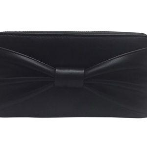 Betsey Johnson Vegan Bownanza Black Bow Wallet